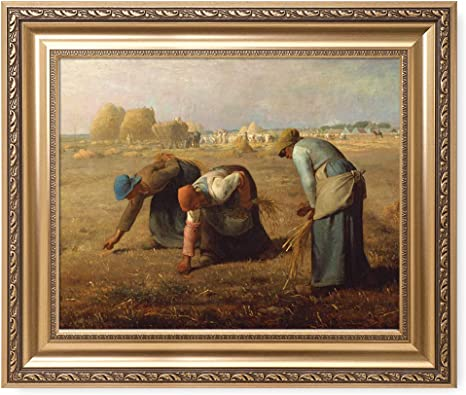 Dollhouse Miniature Jean-Francois Millet Painting Masterpiece Artwork The Gleaners Farm Painting