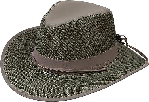 6e019ac5032e7 Men s Safari Sun Hat with Chin Strap - Green at Amazon Men s ...