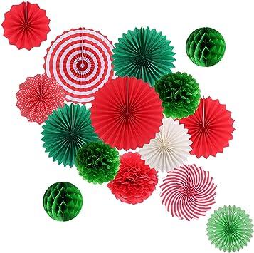 Amazon.com: Juego de decoración de fiesta colgante de papel ...