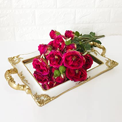 Faux flowers toronto rose with 6 buds real touch silk flowers for faux flowers toronto rose with 6 buds real touch silk flowers for basket arrangement or bouquet mightylinksfo