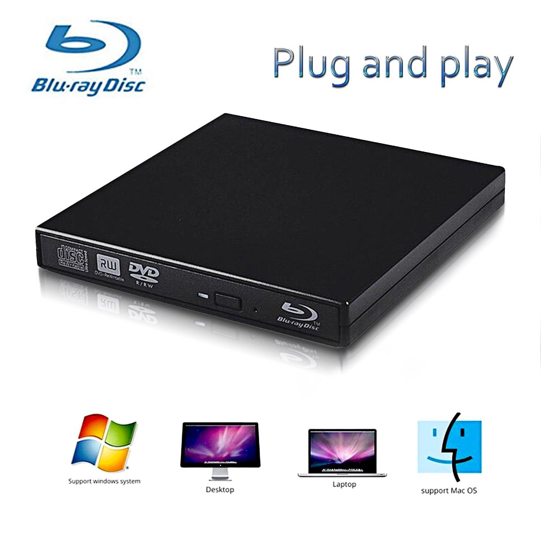 External Blu-ray Drives,Lvaen— External usb 2.0 blu-ray DVD CD drive/BD - ROM,High speed, play blu-ray disc, CD,DVD,perfect support xp/win7/win8/win10/Linux system