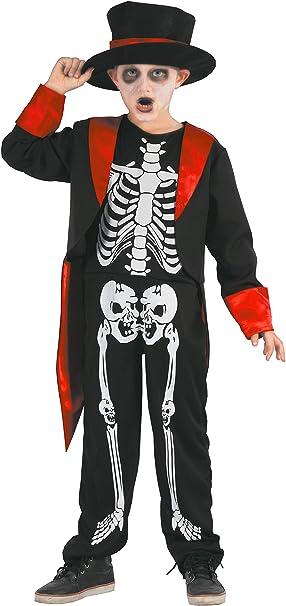 Halloween Kostuem Skelett Amazon.Magicoo Gentleman Skelett Kostum Kinder Jungen Schwarz Rot Weiss Schickes Halloween Kostum Jungen 122 128 Amazon De Spielzeug