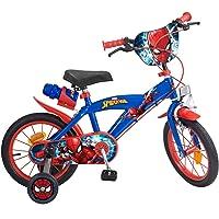 "TOIMS 874 Spiderman kinderfiets Mixed Bike Toims, 3/5 jaar - 14"", blauw,3/5 jaar"