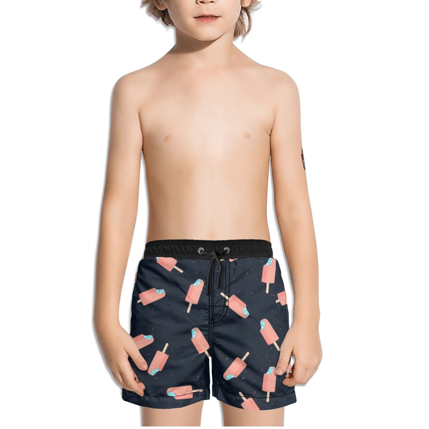 Ouxioaz Boys Swim Trunk Space Colorful Ice Pop Beach Board Shorts