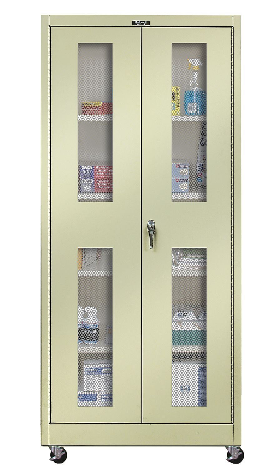 Amazon.com : 800 Series 2 Door Storage Cabinet Color: Parchment : Modular Storage Systems : Office Products