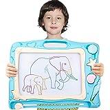 Pizarra Magnética Infantil,Automoness Almohadilla Borrable de Escritura y Dibujo con 2 Sellos y 1 Plumas,Juguetes…