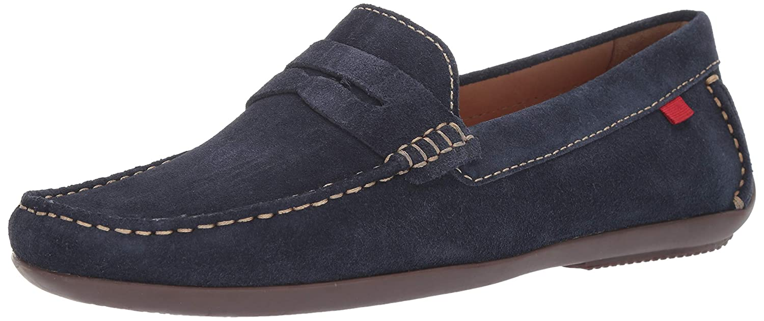 Navy Suede MARC JOSEPH NEW YORK Mens Mens Genuine Leather Union Street Driver Loafer
