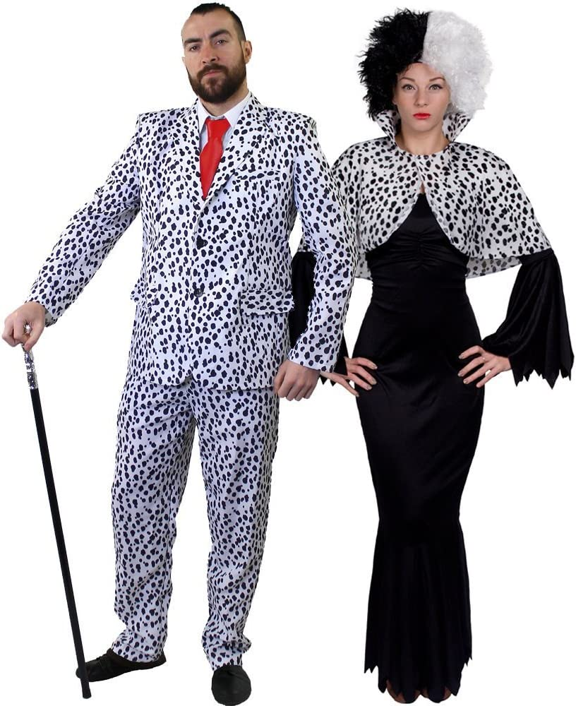 Dalmation chien adulte Costume Robe Fantaisie Animal Costume M /& L nouveaux frais de port 1ère classe