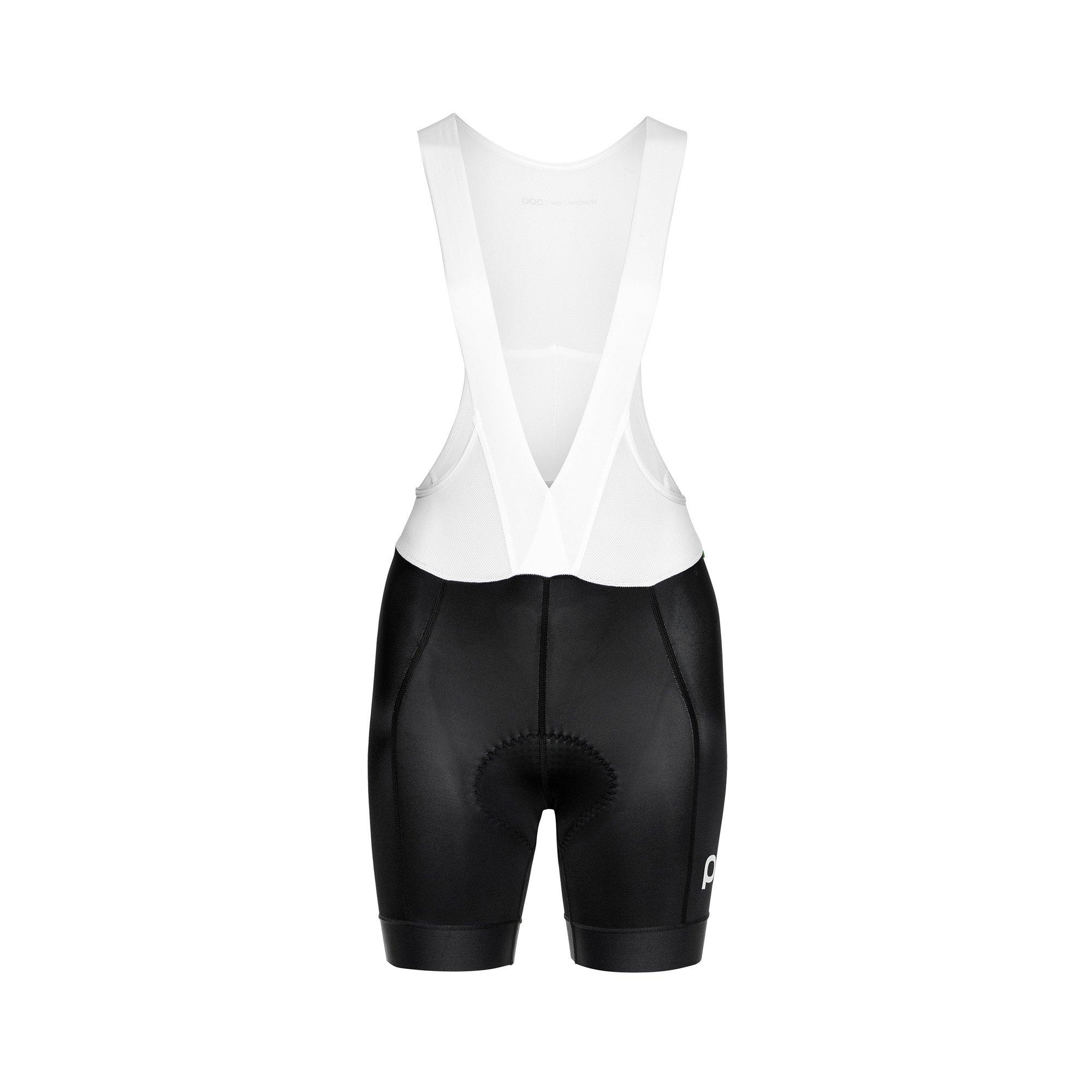 POC Essential Road Women Bib Shorts, Women's Cycling Apparel, Uranium Black, L