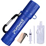 Personal Water Filter Mini Portable Water Purifier Straw 0.01 Micron Outdoor Filter for Camping Hiking Sports Traveling Climbing