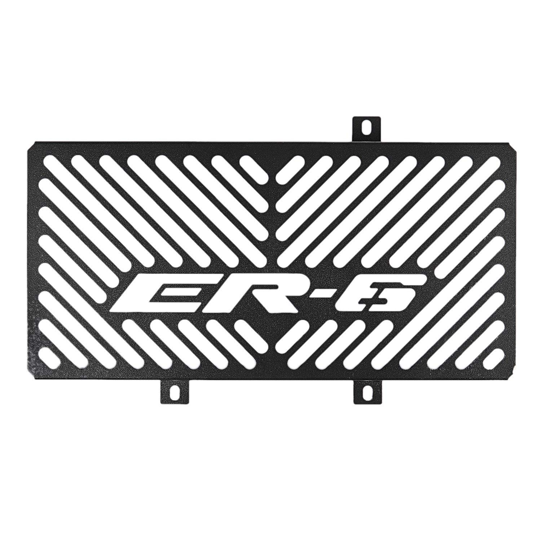 Nero 2011 Griglia di Protezione per radiatore Moto YeBetter in Acciaio Inox per Er6N Er-6N Er6F Er-6F 2009