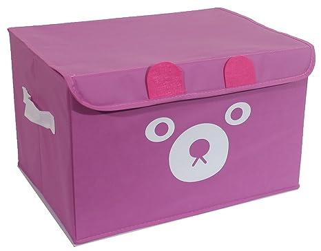Katabird - Cubo de almacenamiento plegable para juguetes, caja de pecho, organizador de juguetes con tapa para ...