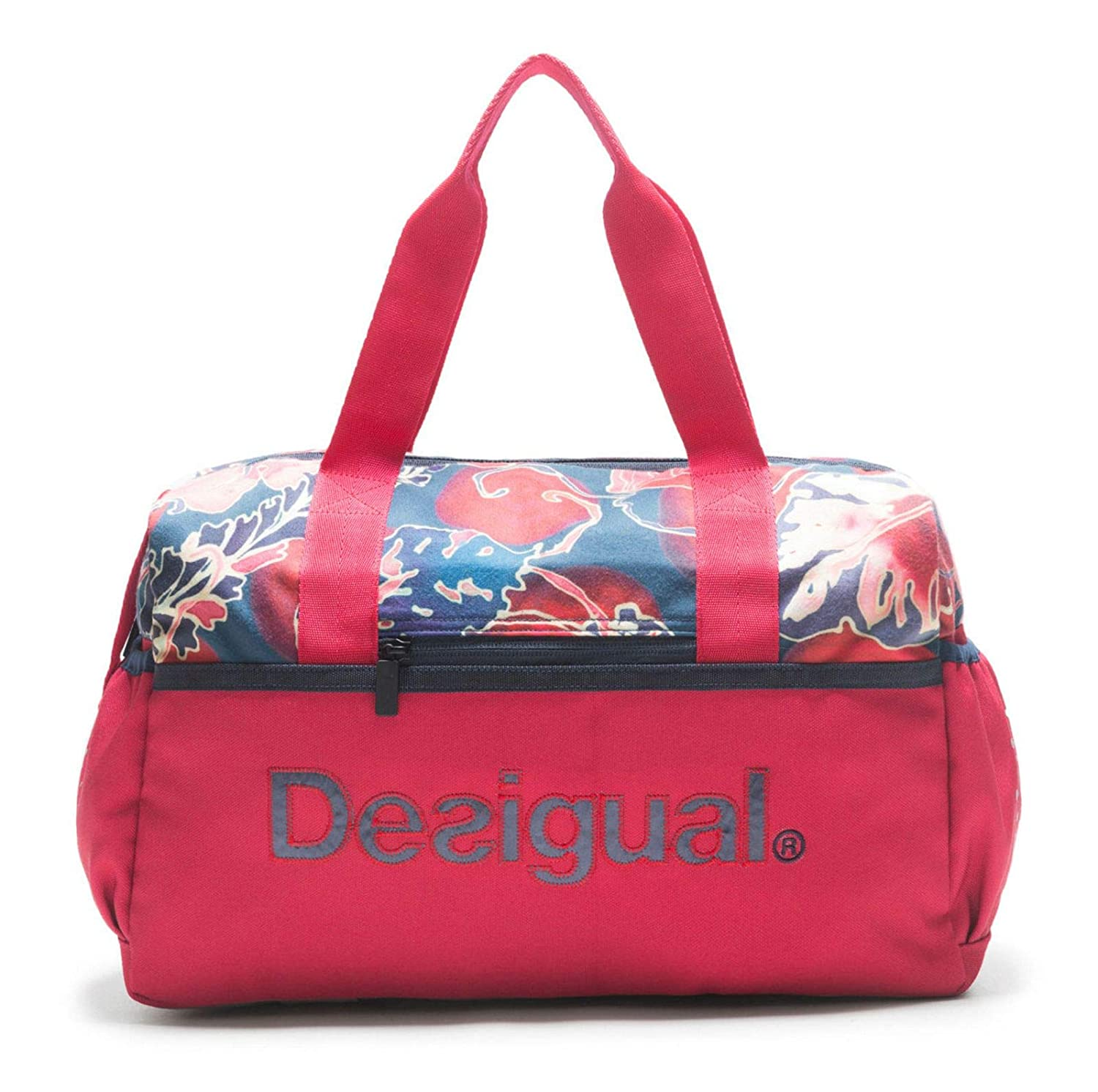 Desigual Geopatch Gym Bag Rojo Abril