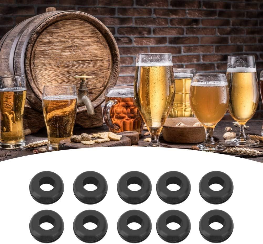 Eastbuy Arandela de Goma - 10Pcs Airlock Grommet Ring para fermentador Tapa Herramienta de elaboración de Cerveza Accesorios de elaboración de Cerveza
