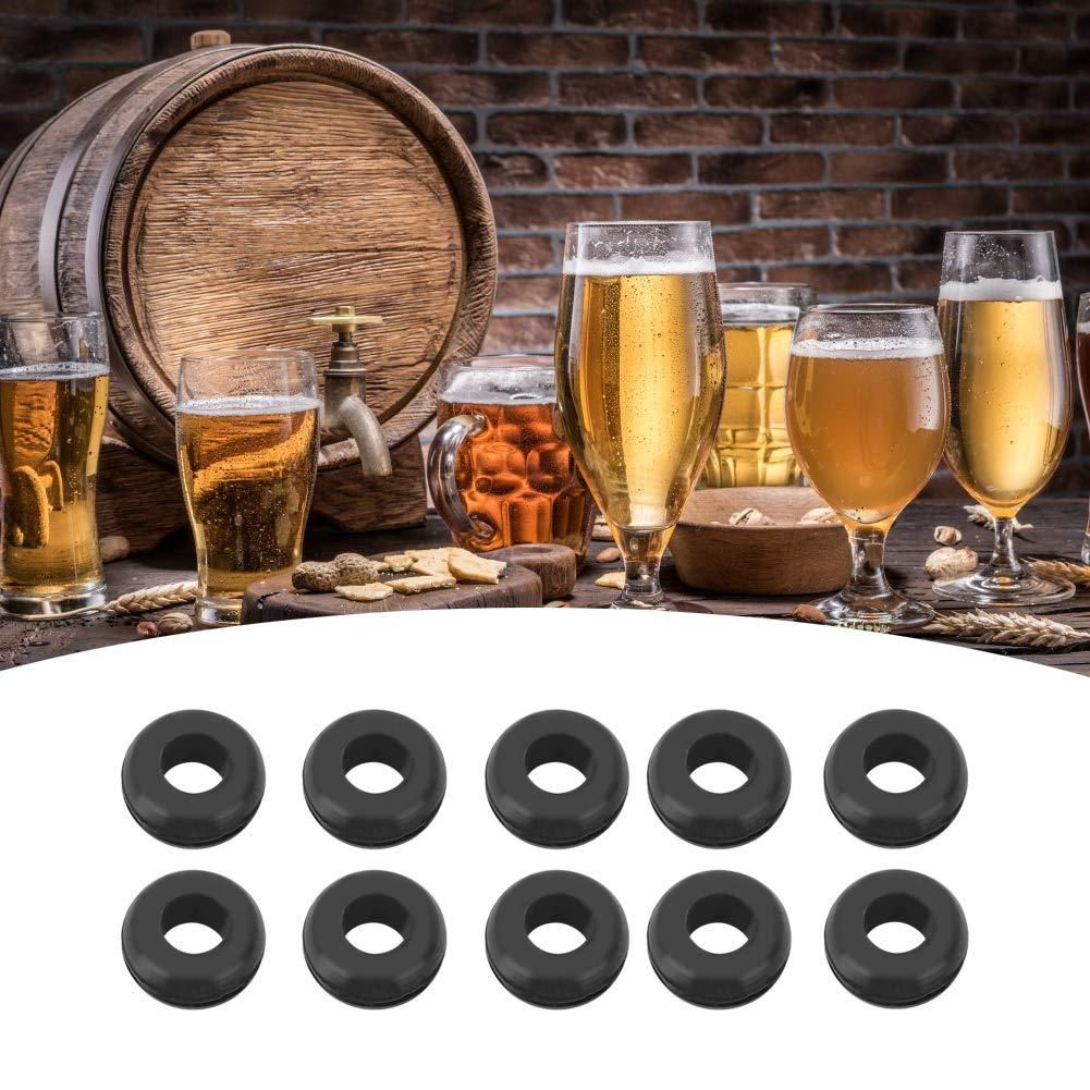 Airlock Grommet 10Pcs Grommet Ring Fermenter Lid Grommet Beer Brewing Tool Accesorios