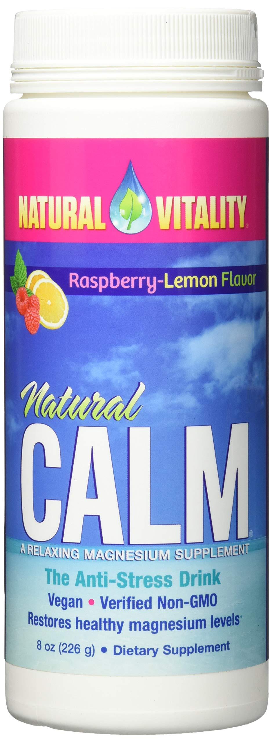 Natural Vitality Natural Calm Magnesium Anti Stress, Organic, Raspberry Lemon, 8 oz