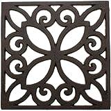 Comfify 铸铁三角形复古图案 - 16.51 厘米,带橡胶腿 锈棕色 Square CA-1504-06-BR CA-1504-06-BR