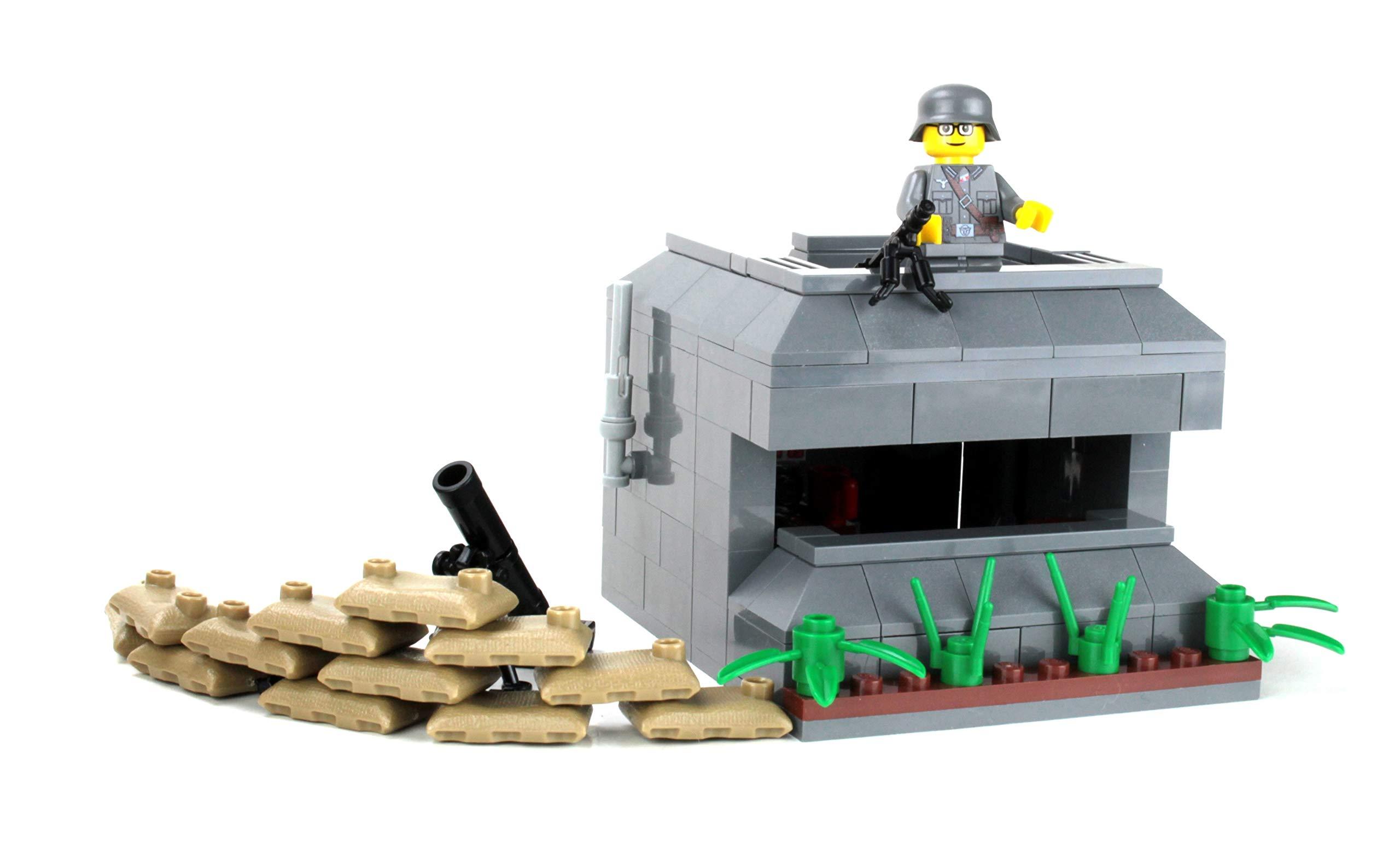 Military WWII Brickwarriors Custom MORTAR Heavy Weapon for Lego Minifigures