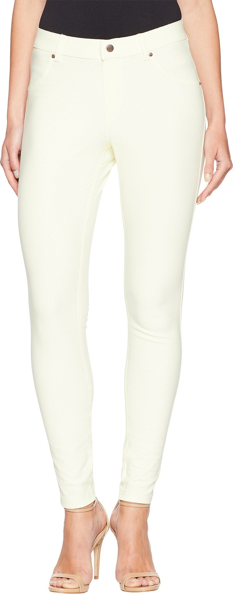 HUE Women's Essential Denim Leggings Lemon Ice Medium 29