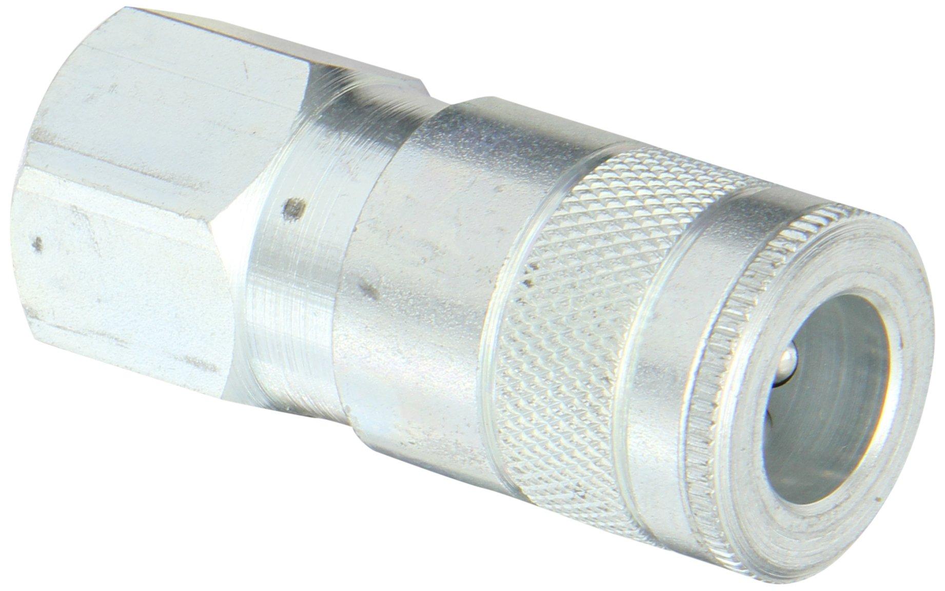 Dixon Valve DC624 Steel Air Chief Automotive Interchange Quick-Connect Air Hose Socket, 3/8'' Coupler x 1/2'' NPT Female Thread, 70 CFM Flow Rating