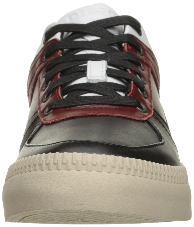 Diesel Men's V S-Spaark Low Fashion Sneaker, Black/White/Biking Red, 10.5 M US by Diesel (Image #4)