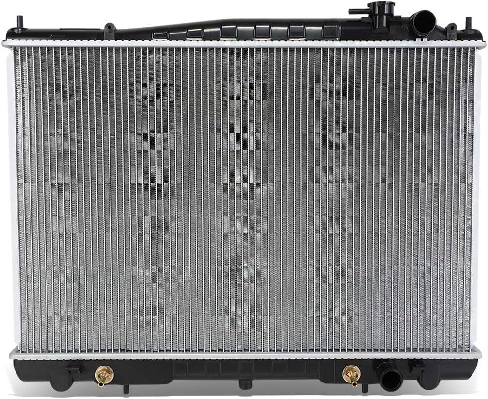DNA Motoring OEM-RA-2215 Aluminum Radiator 1 Pack,Black//Metallic For 98-04 Nissan Frontier//Nissan Xterra AT