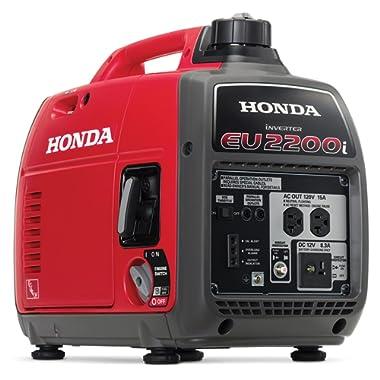 Honda EU2200i 2200-Watt Super Quiet Gas Power Portable Inverter Generator