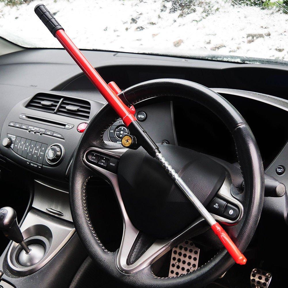 Heavy Duty Anti Theft Steering Wheels Lock Cars Van Vehicle Security