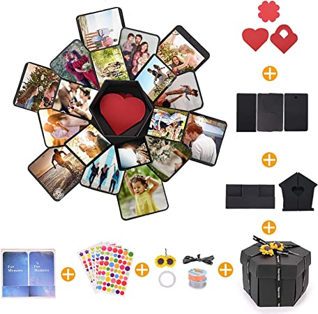 NEw Explosion Box Photo Album Scrapbook DIY Handmade Box For Wedding Suprise UK