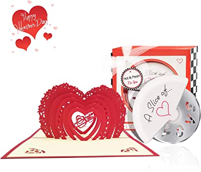 3D Greeting Card Romantic Pop-up Card for Couples Birthday Valentine Day Gifts