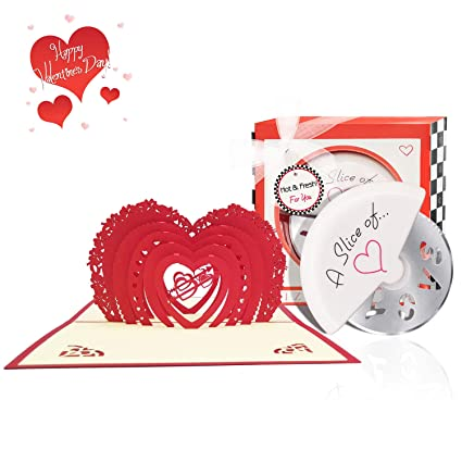 Heart Valentine Day 3D Pop Up Card
