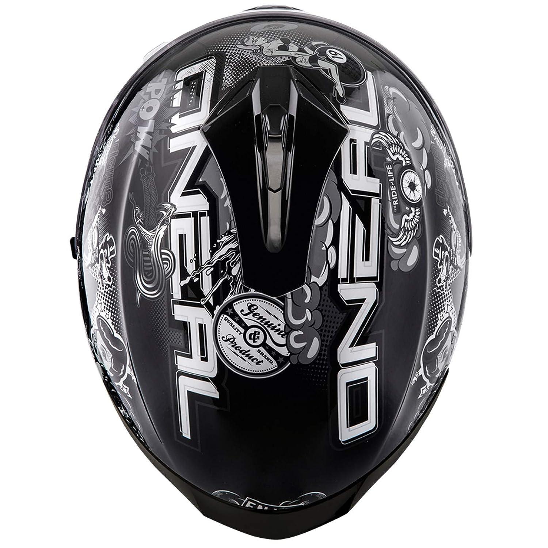 Oneal Challenger Helmet Crank Black//White Casco Moto MX-Motocross