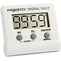 Presto 04213 - Temporizador digital electrónico, color blanco