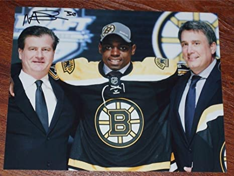 Signed Malcolm Subban Photo 8x10 Nhl Draft Autographed Nhl