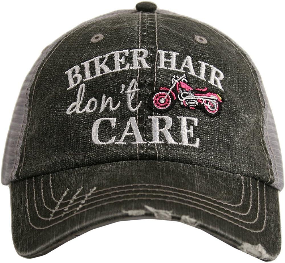Hats Katydid KDC-TC-162 Hot Pink Biker Hair Don't Care Trucker