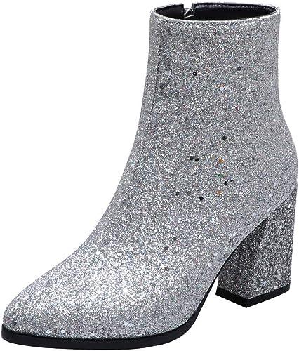 Amazon.it: GLITTER Stivali Scarpe da donna: Scarpe e borse