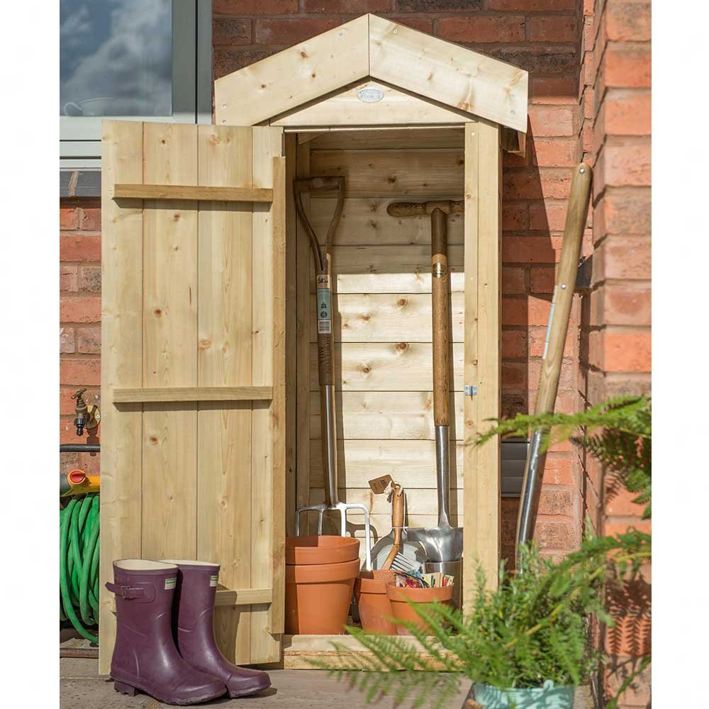 Forest Plus Pressure Treated Small Shiplap Garden Store, Natural, 2 x 2 ft SPASGSHD
