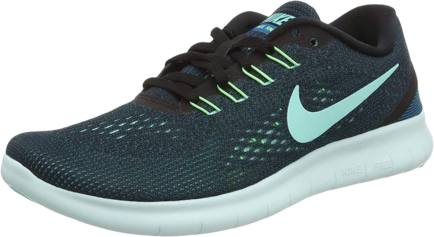munición suficiente Plantando árboles  Amazon.com | Nike Free Rn Women's Lifestyle Running Shoes Size US 6 M  Black/Hyper Turquoise Green Abyss Volt | Running