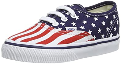 9f4dda7a4e Vans - Kids Authentic Shoes in (Stars   Stripes) Peacoat Formula One