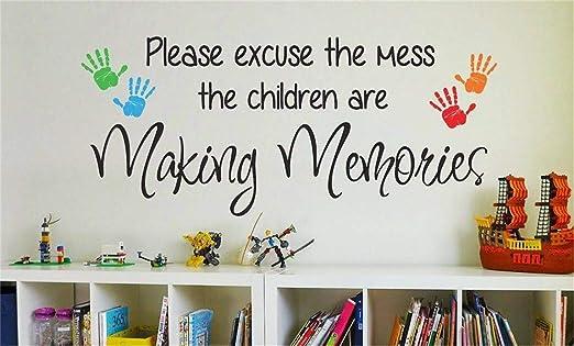 "MAKING MEMORIES Home Bedroom Vinyl Wall Art Decal Words Lettering Quote 36/"""