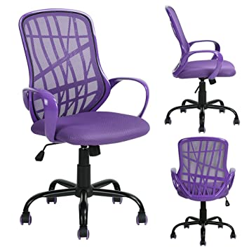 FCH Office Mesh Chairs Mid Back Adjustable Swivel Chair Task Chair For  Home/Office