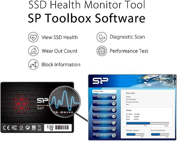 Silicon Power S57 - Disco Duro sólido Interno SSD de 120 GB (2.5 ...