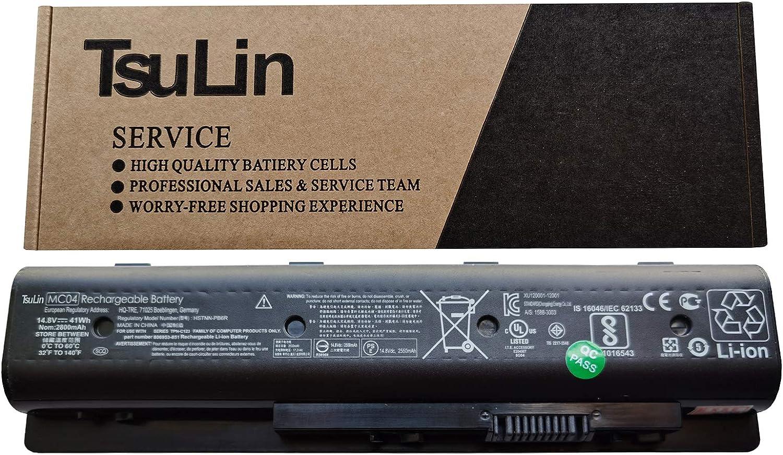 TsuLin MC04 Laptop Battery Replacement for HP Envy M7-N109DX M7-N014DX 17-N078CA 17-N153NR 17-N179NR 17T-N100 REFURB Series HSTNN-PB6R HSTNN-PB6L MC06 807231-001 805095-001 14.8V 41Wh
