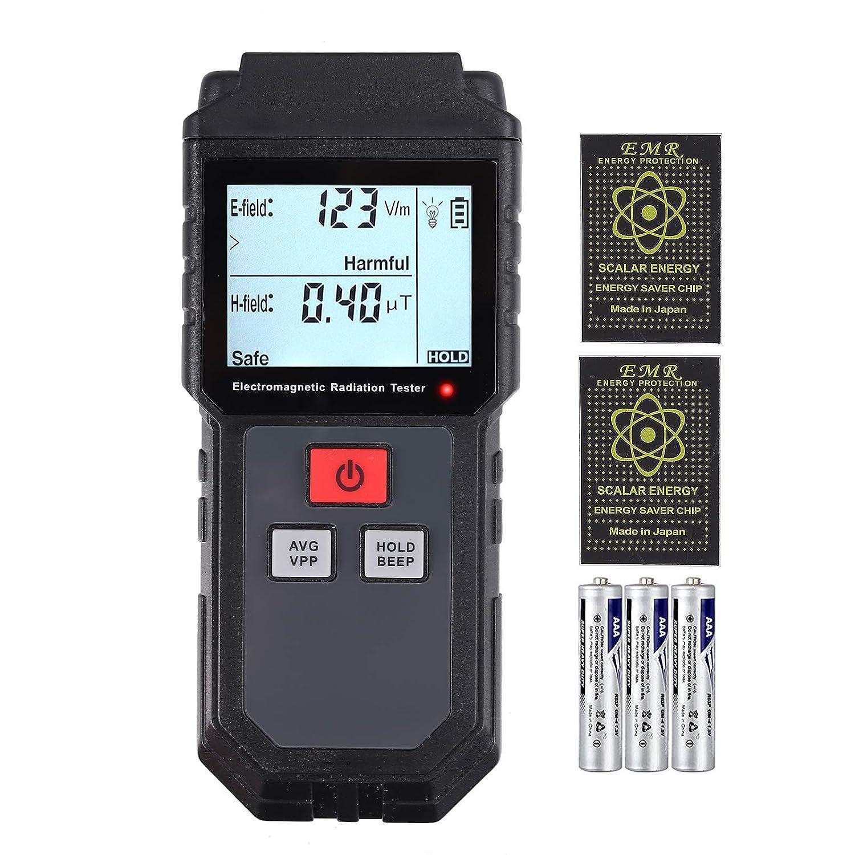 Neoteck EMF Medidor de Radiación de Campo Electromagnético de Mano Mini Digital LCD Detector de EMF con Protección contra Radiación
