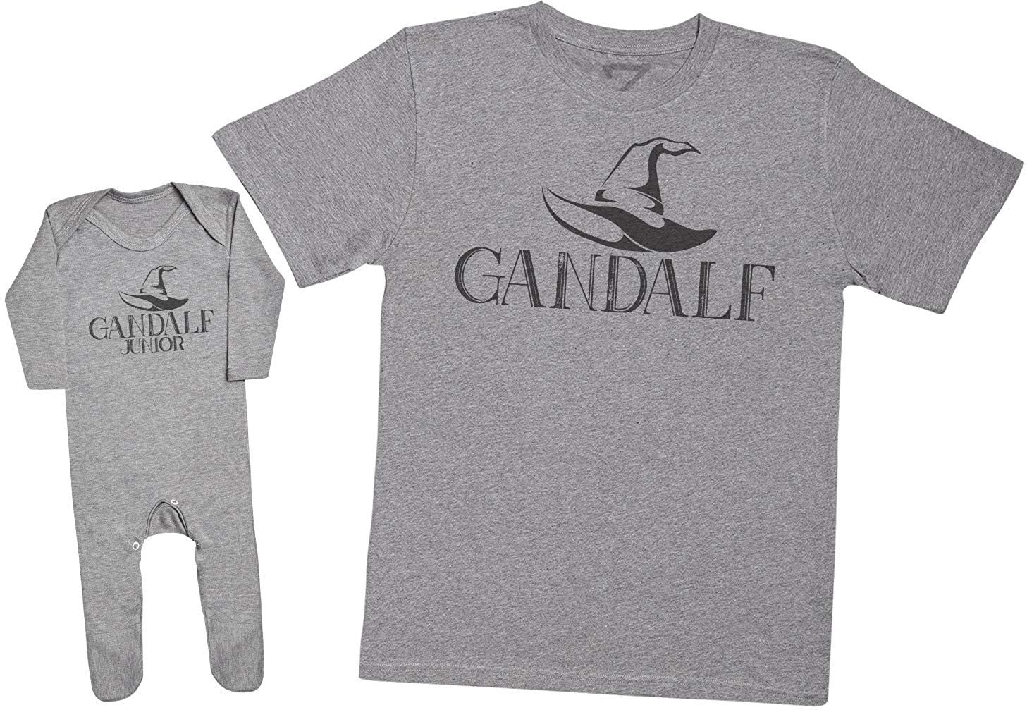 Mens T Shirt /& Baby Romper Gandalf /& Gandalf Junior Matching Father Baby Gift Set