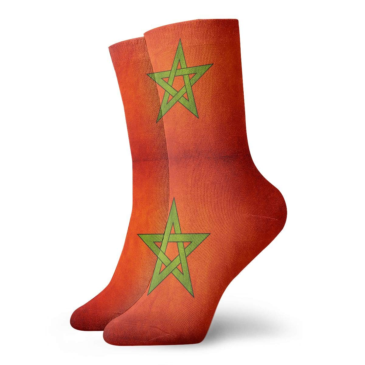 Adult Vintage Morocco Flag Cushion Crew Socks