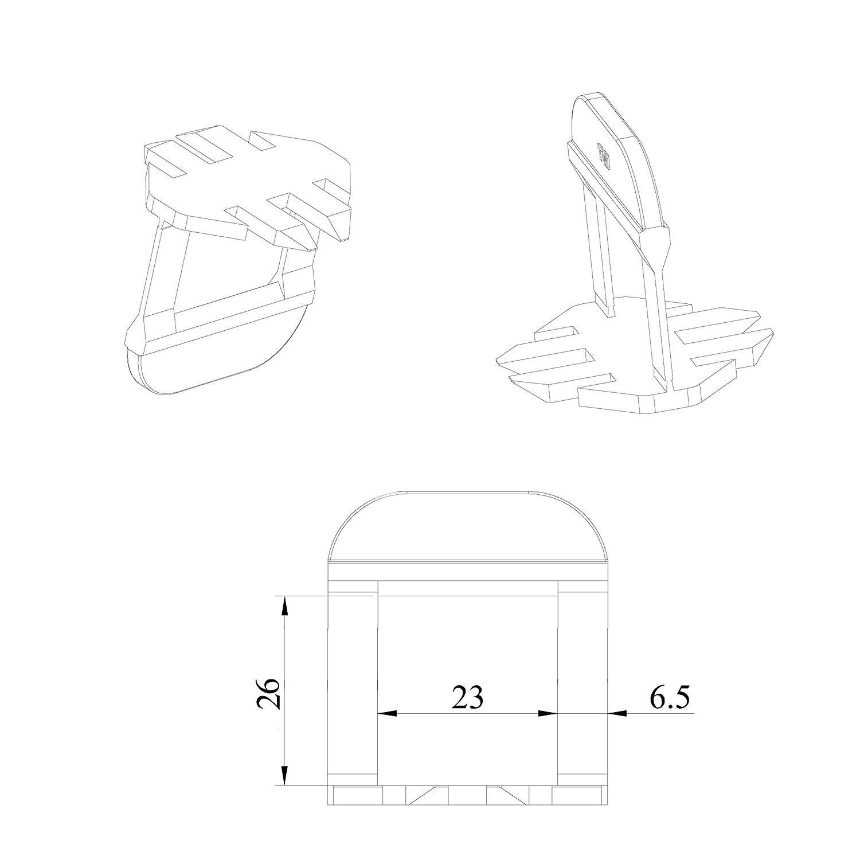 Lantelme XXL Zuglaschen 1mm Fugenbreite 1000 St/ück f/ür Fliesenh/öhe 13 bis 22mm Fliesenverlegehilfe f/ür Heimwerker und Profi