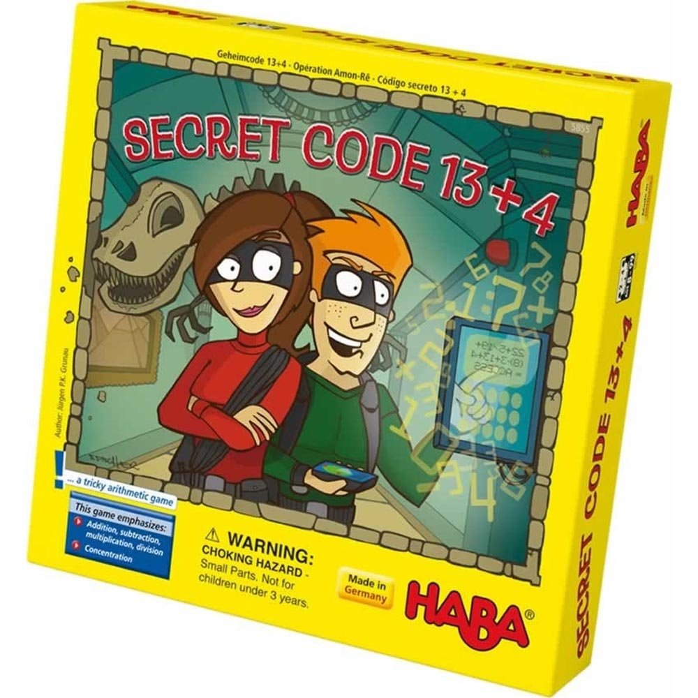 HABA Secret Code 13+4 A Tricky Arithmetic Game (Made in Germany)