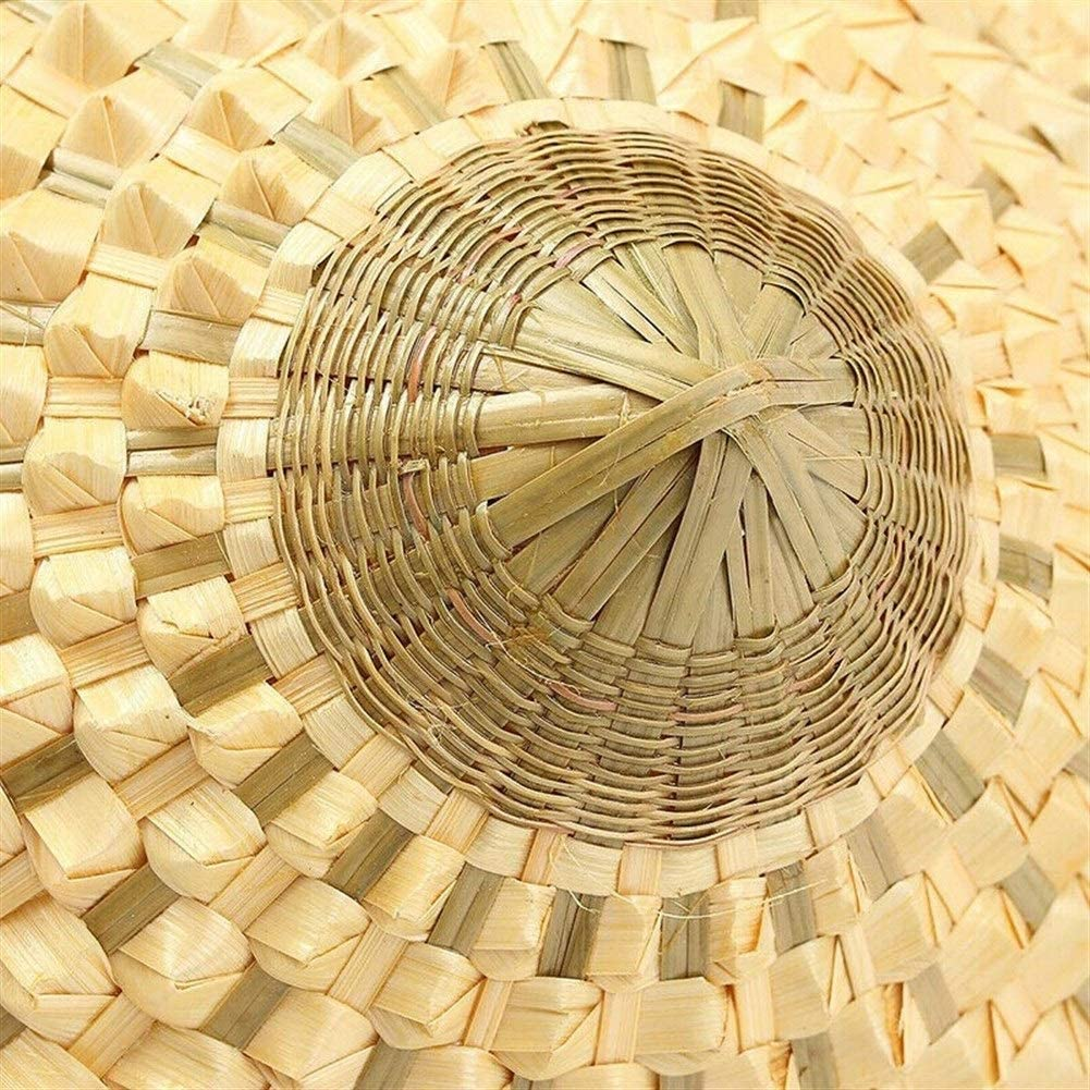 THNQ Vietnamita Giapponese Coolie Paglia di bamb/ù Cono del Cappello di Sun Garden Farmer Pesca Color : Beige
