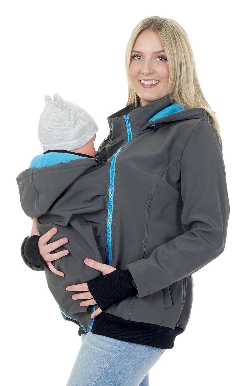 Divita 3in1 Tragejacke f/ür Tragetuch Babytrage Umstandsjacke Softshell Allwetter Mama Baby D58